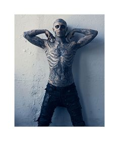 Rick Genest by Mariano Vivanco in Mugler for Vogue Hommes Japan  #rickgenest #ricothezombie #tattoo
