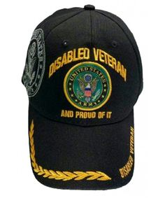 19a3302396797 Disabled Veteran US ARMY Baseball Cap Black Logo Hat Proud of It Golden  Wreath CS11KW02ATN
