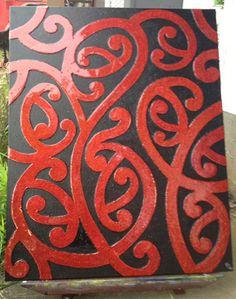 MaoriRedLarge  Paintings - Angela Lane ~ Artist