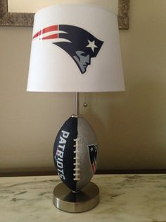 New England Patriots football lamp by thatlampguyGraz on Etsy