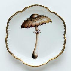 Anna Weatherley Mushroom #4 Hors D'Oeuvre Plate