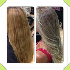 gold/warm tones to ash blonde! love it