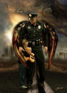 I love this picture, reminds me of my Dad, who has been a cop for almost 35 years.