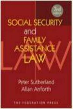 Social Security and Family Assistance Law. This 3rd edition comprehensively annotates the social security and family assistance law of Australia, as amended to October 2012. It is the 12th volume in a book series which has annotated the Social Security Act and associated legislation since first publication in 1984. Available at Campbelltown campus library. #law #familylaw #socialsecurity