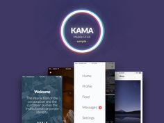 This is a sample of Kama, a useful iOS ui kit that will help speed up and simplify your workflow. All elements were made on a specific grid making them pixel perfect plus they are customizable. Ios Ui, Free Logo, Ui Kit, Mobile Ui, Corporate Identity, Grid, Community, Messages, Graphic Design