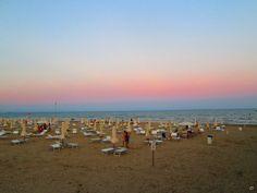 Wonderful sunset colours, at Lignano Sabbiadoro beach. Photo: Eleonora Tommasini.