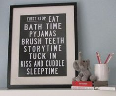 bus stop poster from Etsy