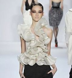 Fronts full of ruffles: Fluffy trend from spring still strong for Fall/Winter