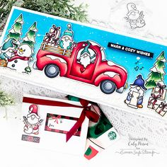Simon Says Stamp – Gnome Peeking Holiday Gift Card Kit 2020 – Caly Person