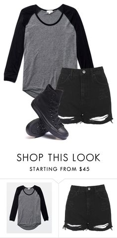 """Untitled #527"" by bands-are-my-savior ❤ liked on Polyvore featuring Wilfred, Topshop and Converse"