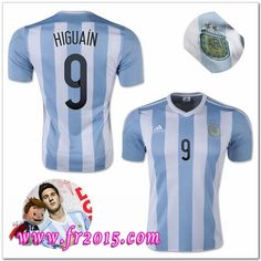 Maillot Foot Pas Cher - Argentine Maillots foot HIGUAIN match 2015 domicile  Messi 19c98a510b117
