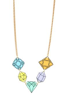 diy shrinky dinky diamond necklace tutorial - Halsband av krympplast!
