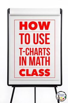 T-Charts are not just for the reading block! These graphic organizers are an effective teaching strategy that can be used during math class to help students visually organize their thoughts and ideas. Math Resources, Math Activities, First Grade Math, Fourth Grade, Sixth Grade, Second Grade, Math Talk, Math Notebooks, Interactive Notebooks