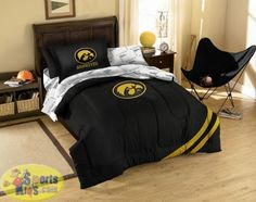 Sports Coverage NCAA Iowa U Hawkeyes King Bed Skirt