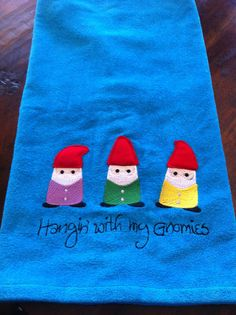 Hangin' With My Gnomies Personalized Bath Towel. So cute!