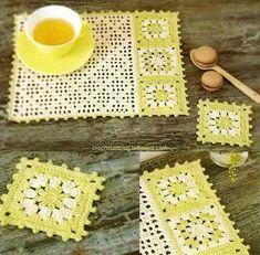 crochet patterns of Doilies, Tablecloths, Pillows, Coasters Filet Crochet, Art Au Crochet, Crochet Motifs, Crochet Squares, Crochet Home, Thread Crochet, Crochet Gifts, Crochet Doilies, Knit Crochet