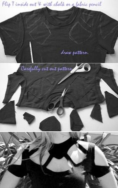 15 T-shirt DIY Crafts must have Beach wear hipster vintage love you me girl couple fashion clothes like kiss hope cute stuff bows nails eyes makeup shoes heels jewerly lips hair blonde color diy lol s(Diy Shirts) Cut Up Shirts, Old T Shirts, Great T Shirts, Tee Shirts, Cutting Shirts, Recycled Shirts, Hipster Shirts, Sorority Shirts, Diy Kleidung