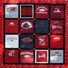 Arkansas Razorback Quilt by big red tulip, via Flickr