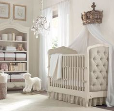 Gold Crown Wall Canopy . Prolly the cutest nursey addition ever. Demilune Gilt Crown Bed Canopy | Wall Décor | Restoration Hardware Baby & Child