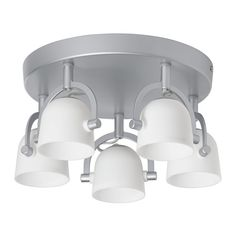 IKEA - SVIRVEL, Ceiling spotlight with 5 spots, , You can easily direct the light to different places, since each spotlight can be adjusted individually.