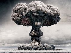 mushroom-cloud/ Clown!!!! Two very scary things forever merged in my mind!!!