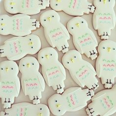 The Classic DIY Summer Party - Handmade Charlotte Order Cookies, Owl Cookies, Galletas Cookies, Fancy Cookies, Iced Cookies, Cute Cookies, Sugar Cookies, Cupcakes, Cupcake Cookies