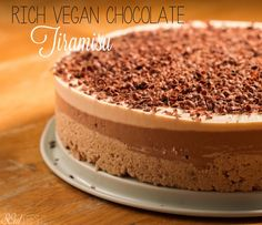Rich Vegan Chocolate Tiramisu