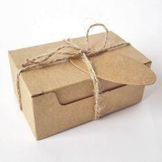 50pcs Jabón de regalo Craft cartón Caja de papel de estraza con cáñamo y…
