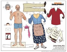 Kyle Hilton - Arrested Development paper dolls: Tobias Funke (with Mrs.