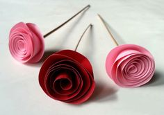 Looking for a cool craft idea that is fun, simple, easy & inexpensive!? Try these unique rolled paper roses that make great gifts for friends, look fabulous on a gift wrapped package, perfect for Valentine's Day and add color to any home decor. A vase of these lovely flowers will brighten