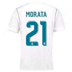 Real Madrid Alvaro Morata 21 Domácí Dres 17-18 Krátký Rukáv