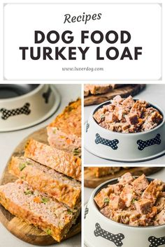 Choosing the right ingredients and making healthy meals for your dog is important. This homemade turkey loaf recipe does not have preservatives, sweeteners, and toxic food (chocolate, xylitol). There is 6 homemade meat food for dog food recipes. #dogfood #homemadedogfood #foodfordog #homemadedogfoodrecipes Dog Treats Grain Free, Grain Free Dog Food, Homemade Dog Treats, Healthy Dog Treats, Loaf Recipes, Dog Food Recipes, Nutritious Meals, Healthy Meals, Chicken Loaf