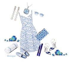 """""""Just Blue Fun!"""" by gemique ❤ liked on Polyvore featuring moda, philosophy, By Terry, Oliver Peoples, Keds, Manolo Blahnik, Alice + Olivia, Amour y Hamburg House"""
