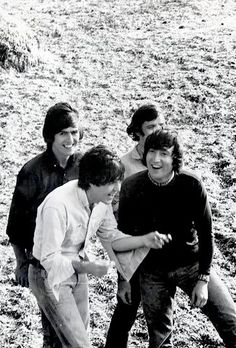 The Beatles in the Bahamas on the set of Help! 1965