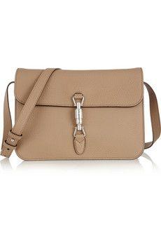 Gucci Jackie textured-leather shoulder bag | NET-A-PORTER