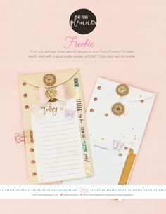 Free Printable Planner Envelopes from My Prima Planner {email required}