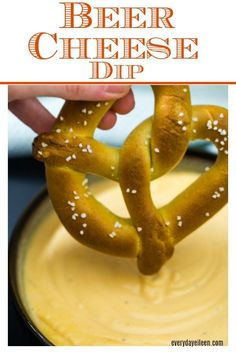 Hot and cheesy beer cheese dip a perfect addition to any Superbowl tailgate or party Keep it low-carb by serving with veggies or fruit An awesome dip for homemade pretzels via everydayeileen Tailgating Recipes, Tailgate Food, Snack Recipes, Snacks, Pretzel Dip Recipes, Superbowl Desserts, Cheese Dip Recipes, Fondue Recipes, Barbecue Recipes