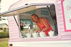sweet jane's traveling teahouse interior peek