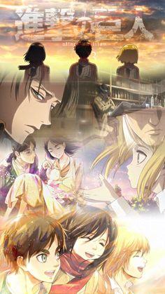 Armin, Eren And Mikasa, Manga Anime, Anime Art, Aot Wallpaper, Tamako Love Story, Hxh Characters, Anime Lindo, Eremika