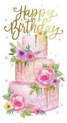 emmas first birthday Happy Birthday Wishes For Her, Happy Birthday Floral, Happy Birthday Art, Happy Birthday Wallpaper, Birthday Wishes Messages, Birthday Blessings, Happy Birthday Pictures, Happy Birthday Greetings, Birthday Images