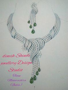 Jewelry Sketch, Jewellery Sketches, Jewellery Designs, Jewelry Illustration, Diamond Jewellery, Fashion Rings, Kaftan, Hand Drawn, Collars