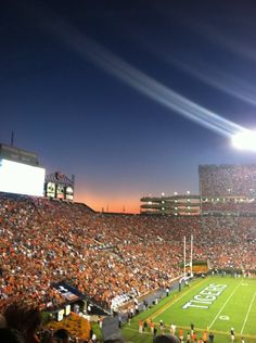 God must be an Auburn Tiger because the sky is blue and the sun is orange (: