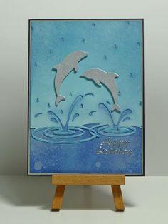 Открытки с дельфинами своими руками, день учителя оригинальные
