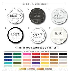 Custom Logo Labels personalised Bulk Motivated Logo Printed Stickers Postage Labels