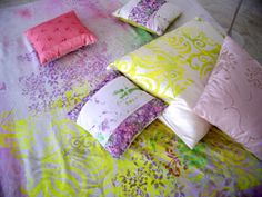 hand printed silks and velvets from my moroccan cushion collections - Carolyn Quartermaine India Colors, Vibrant Colors, Colours, French Bedrooms, Moroccan Cushions, Textile Texture, Designers Guild, Textile Artists, Serendipity