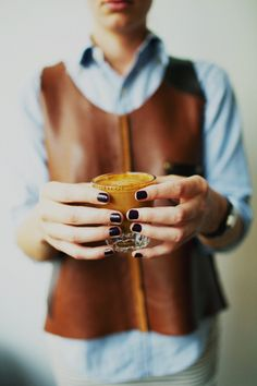 coffee  + leather