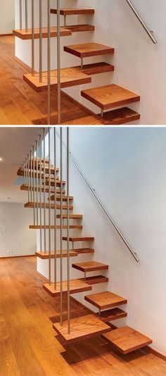 18 Examples Of Stair Details To Inspire You // If you're not careful, these wooden stairs could be a bit confusing.