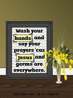 Yellow And Gray Chevron Bathroom Art Printable Quotes Bathroom