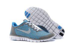 Miglior Nike Free in Esecuzione Scarpe Bianco Sky Blu Grigio Cheap Nike Running Shoes, Nike Shoes, Sneakers Nike, Nike Shox Nz, Nike Roshe Run, Nike Free 3, Nike Free Runs, Nike Air Max, Tn Nike