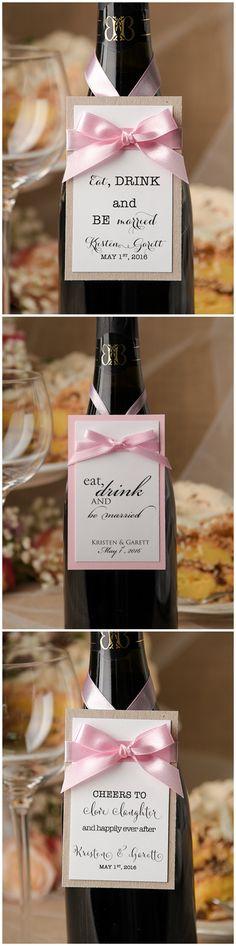 Enhance the wedding wine bottles by unique customized labels. Wedding Wine Bottles, Wedding Champagne, Wine Labels, All Design, Wedding Stationery, Weddingideas, Wedding Details, Special Occasion, Romantic